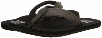 Reef Men's Sandal Twinpin | Comfortable Men's Flip Flop With Vegan Leather Upper