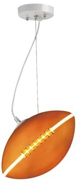 Zoomie Kids Ciaran Football 1-Light Single Geometric Pendant