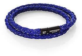 Tateossian Men's Woven Leather Bracelet