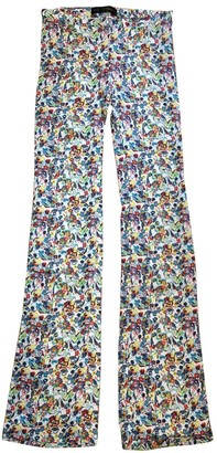 Versace Multicolour Polyester Trousers