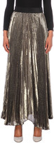 Alice + Olivia ALICE & OLIVIA Katz pleated silk-blend maxi skirt