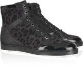 Tokyo leopard-print suede high-top sneakers