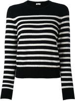 Saint Laurent striped cashmere sweater - women - Cashmere - XS