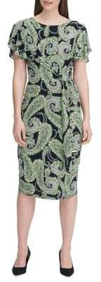 Tommy Hilfiger Voyager Paisley Jersey Sheath Dress