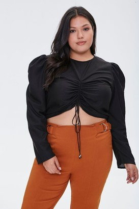 Forever 21 Plus Size Ruched Drawstring Top