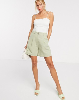And other stories & linen bermuda shorts in khaki