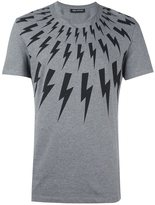 Neil Barrett lightning bolt print T-shirt