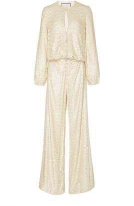 Alexis Ismet Sequined Silk Jumpsuit