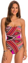 Kenneth Cole Swimwear Without Borders Bandeau One Piece Swimsuit 8145457