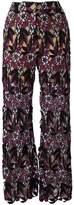 Self-Portrait floral macrame trousers