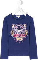 Kenzo Tiger print top - kids - Cotton/Spandex/Elastane - 4 yrs