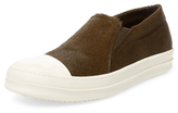 Rick Owens Leather Slip-On Sneaker