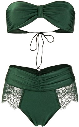 Oseree Travaille Strapless High-Waist bikini