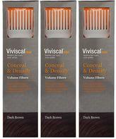 Viviscal Conceal & Densify Volume Hair Fibres - Dark Brown (3 pack)