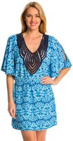 Dotti Tie Dye Twist Cold Shoulder Cover Up Tunic 8141760
