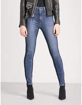 Good American Good Waist Shadow Side skinny high-rise jeans
