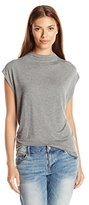 GUESS Women's Sleeveless Wedge Mock Neck Top