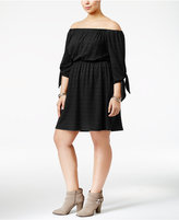 Soprano Trendy Plus Size Off-The-Shoulder Dress