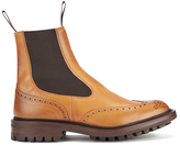 Tricker's Henry Leather Commando Sole Chelsea Boots Tan