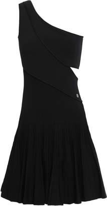 Roberto Cavalli One-shoulder Cutout Ribbed-knit Mini Dress