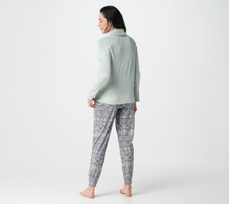 Cuddl Duds Ultra Plush Velvet Fleece Jogger Pants PJ Set
