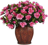 Asstd National Brand Nearly Natural Azalea Silk Plant with Vase