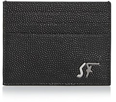 Salvatore Ferragamo Signature Pebbled Leather Card Case