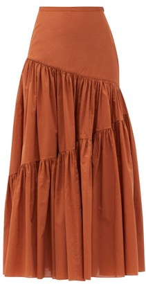 Matteau Asymmetric High-rise Cotton-blend Skirt - Camel
