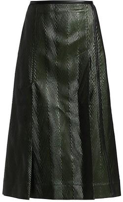 3.1 Phillip Lim Lacquered Herringbone Skirt