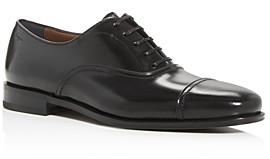Salvatore Ferragamo Men's Seul Leather Cap-Toe Oxfords - Narrow