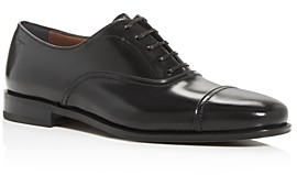 Salvatore Ferragamo Men's Seul Leather Cap-Toe Oxfords - Wide