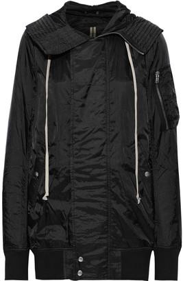 Rick Owens Crinkled-shell Hooded Jacket