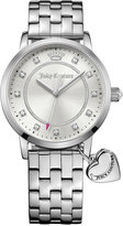 Juicy Couture Women's Socialite Stainless Steel Bracelet Watch with Charm 36mm 1901474
