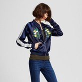 R+J Couture Women's Embroidered Bomber Jacket