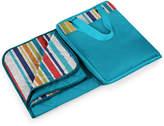 Picnic Time Vista Blanket Xl Aqua Blue Fun Stripes