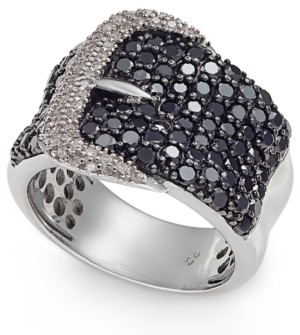 Macy's Diamond Belt Buckle Statement Ring (2 ct. t.w.) in Sterling Silver