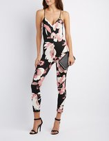 Charlotte Russe Floral Strappy Jumpsuit