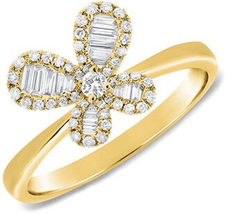 Sabrina Designs 14K 0.34 Ct. Tw. Diamond Butterfly Ring