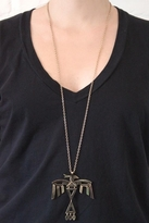 Low Luv by Erin Wasson Skeleton Thunderbird Necklace in Gold