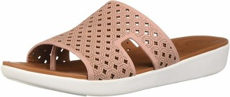 FitFlop Women's H-BAR Slide Sandals-Latticed Leather