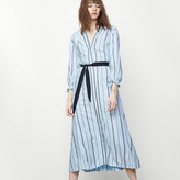 Maje Long dress with ethnic stripes