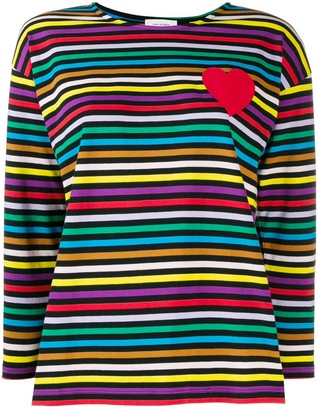 Parker Chinti & striped long-sleeve top