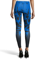 McQ by Alexander McQueen Bird-Print Stretch Leggings, Royal Blue