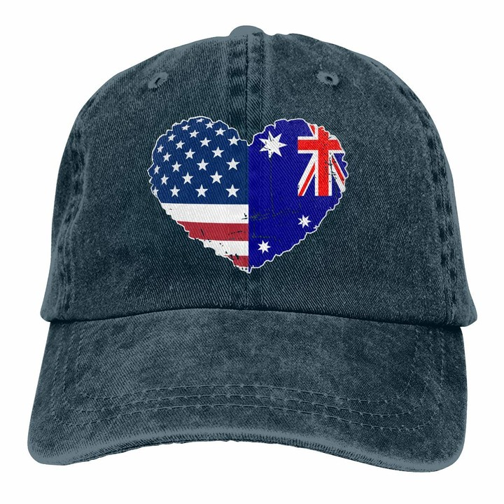 Denim Baseball Cap-Sun Protection Adjustable Hat Orange County Southern California Cowboy Hats Home is Where The Heart is