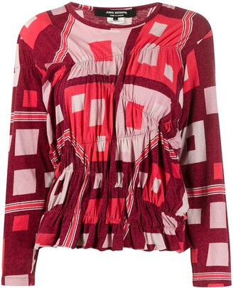 Junya Watanabe Comme Des Garçons Pre Owned 1990s Patterned Top