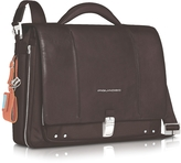 "Piquadro Link - Slim 15"" Laptop Expandable Messenger Bag"