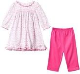 Kissy Kissy Pink Floral Print Dress and Leggings Set