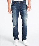 William Rast Dean Slim Straight Destructed Jeans