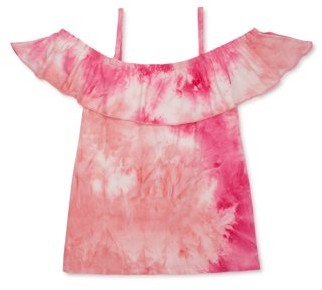 Dreamstar Girls 4-16 Tie Dye Cold Shoulder Top