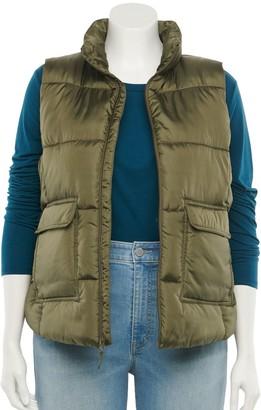 So Juniors' Plus Size Puffer Vest